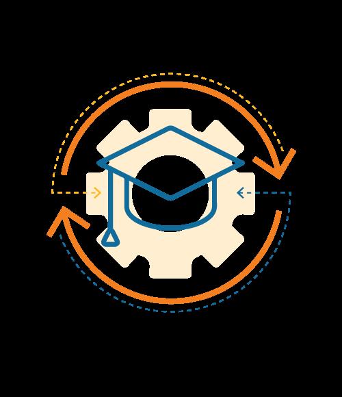 Graduation cap and tassel icon