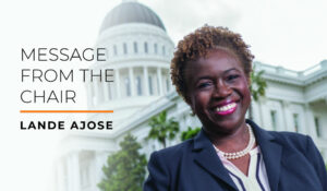 Message from the Chair: Lande Ajose